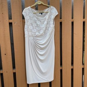 Connected 16W champagne sequin formal dress